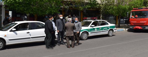 """بازدید از روند اجرای طرح ستاد ملی کرونا """"محدودیت فعالیت صنوف"""" شهر شریفیه"""